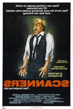 1981 SCANNERS VINTAGE HORROR FILM MOVIE POSTER PRINT STYLE A
