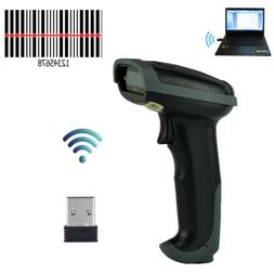 2.4Ghz Automatic Wireless Laser Barcode Scanner Gun Reader W