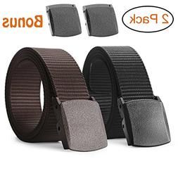 Nylon Military Tactical Belt 2 Pack Webbing Canvas Outdoor W