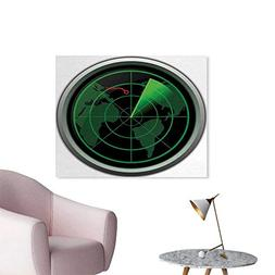 homehot Airplane Space Poster Military Radar Screen Global D
