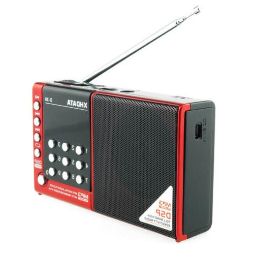 XHDATA Portable MP3/Radio with Red