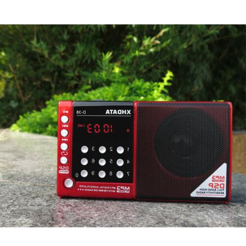 XHDATA D-38 FM Portable Radio Shortwave MP3/Radio Player with LCD Red
