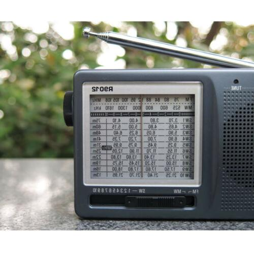TECSUN Portable AM Shortwave Manual Tuning World