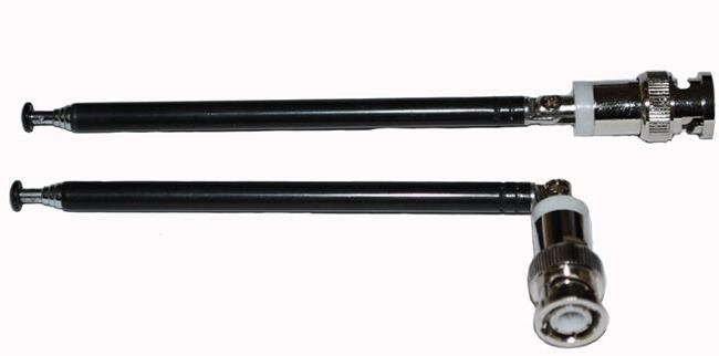 2pcs Telescopic Antennas w/ BNC Connectors for Portable Radi