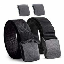 Nylon Military Tactical Men Belt 2 Pack Webbing Canvas Outdo