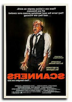 "Scanners Movie Poster 24x36"" - Frame Ready - USA Shipped"