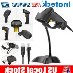 Inateck 1D USB Barcode Scanner with Stand Auto-Scanning